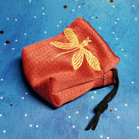 Red Dragonfly Coin Purse