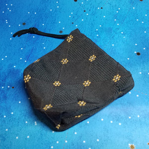 Black and Gold Coin Purse