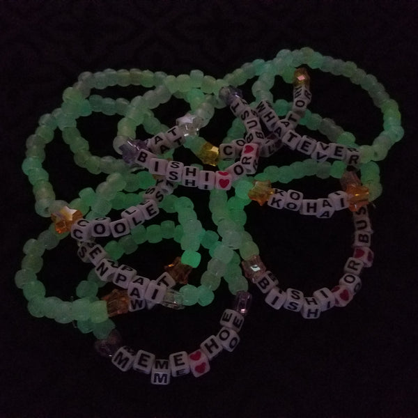 Message Candy Bracelets - Color Changing and Glow-in-the-Dark!
