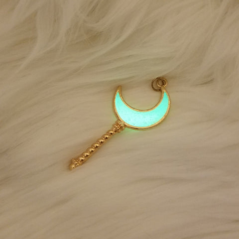Moon Stick Pendant - Glow in the Dark