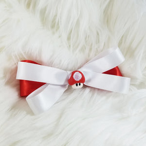 Red Mushroom Hair Bow