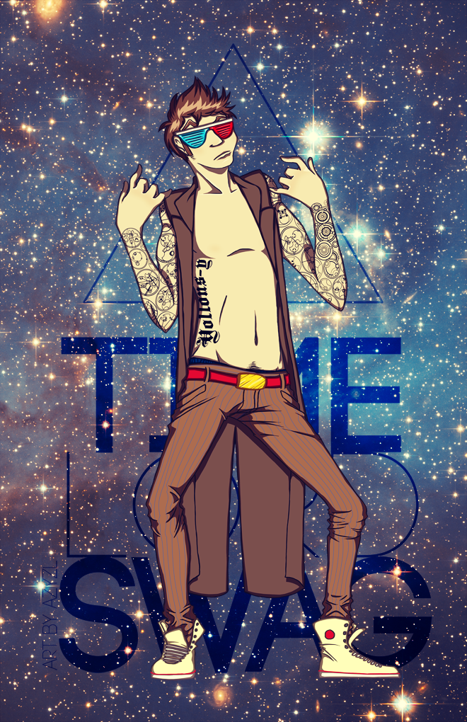 Time Lord Swag Print