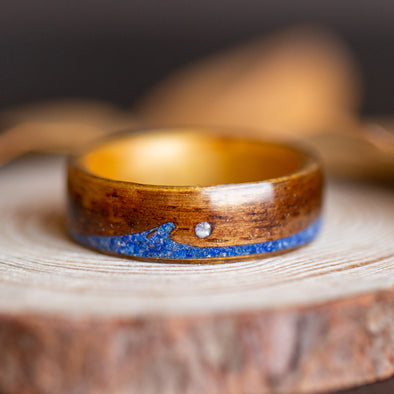 Koa Swell in Lapis Lazuli with Mother of Pearl Moon