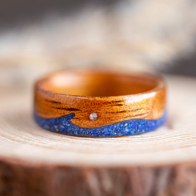 Koa & Lapis Lazuli Waves with Mother of Pearl Moon