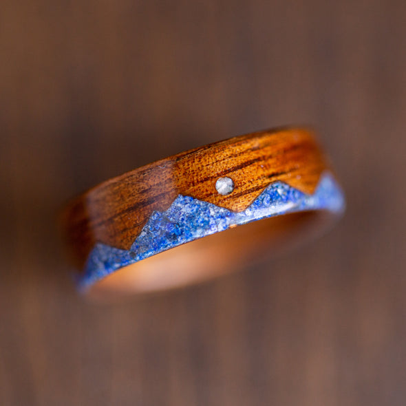 Dark Koa & Lapis Mountain with Mother of Pearl Moon