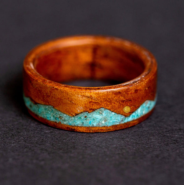Crushed Turquoise Mountain & Brass Sun