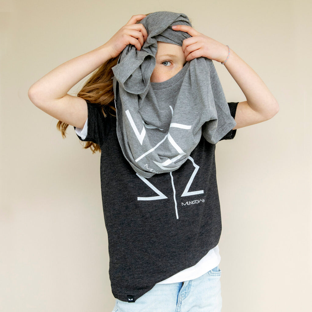 Munkstown MW Youth Tee (Dark Heather Charcoal)