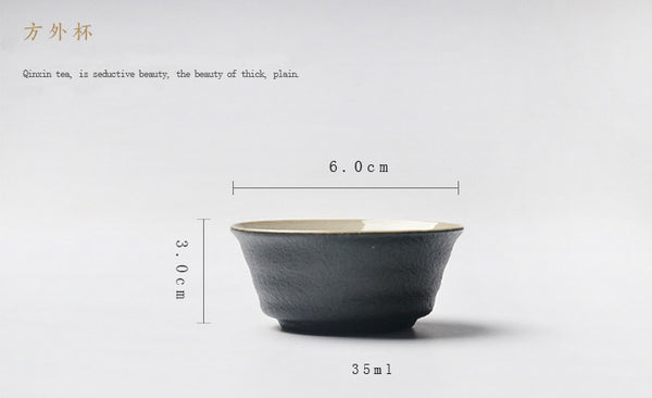 Handmade Japanese Black Pottery/Teacup