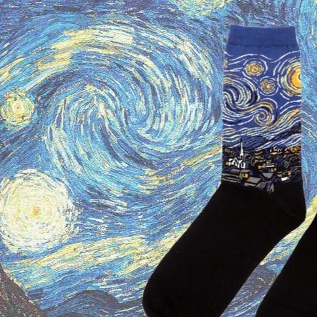 World Famous Painting Classic Art Socks