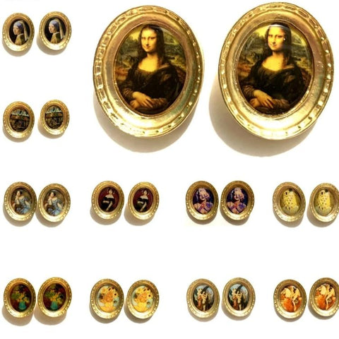 Classic Oil Painting Vintage Earring