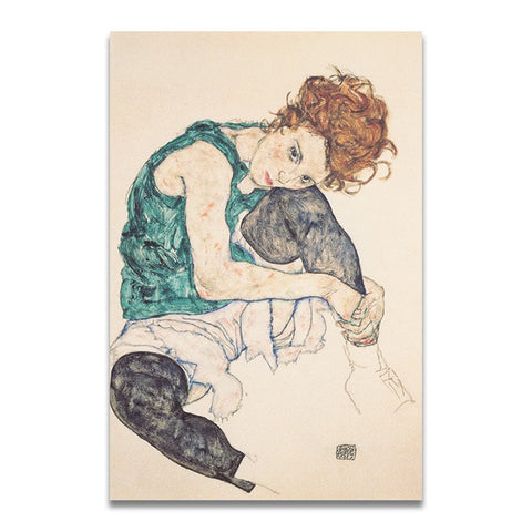 Classic Artwork Canvas Print - Schiele