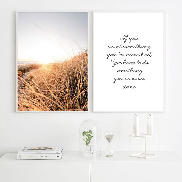 Grass Sunset Art Print
