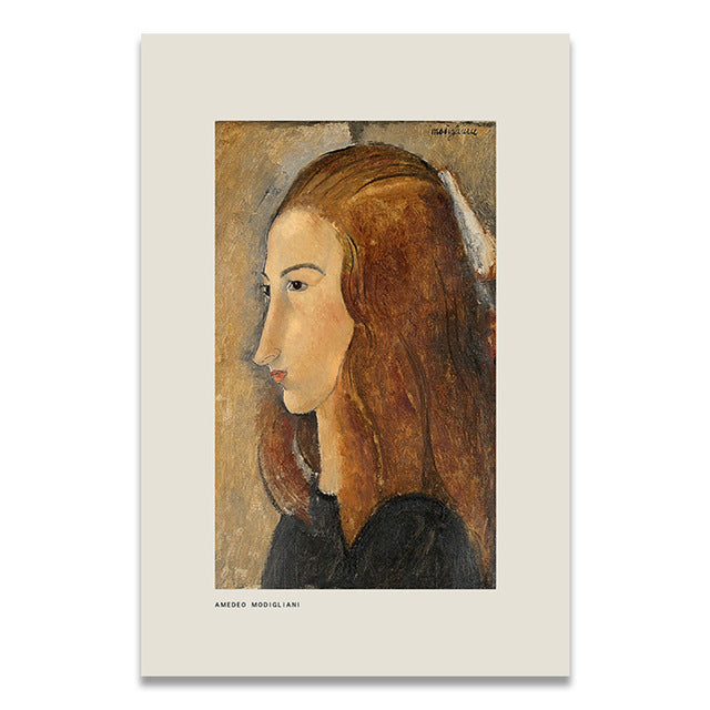 Classic Artwork Canvas Print - Modigliani