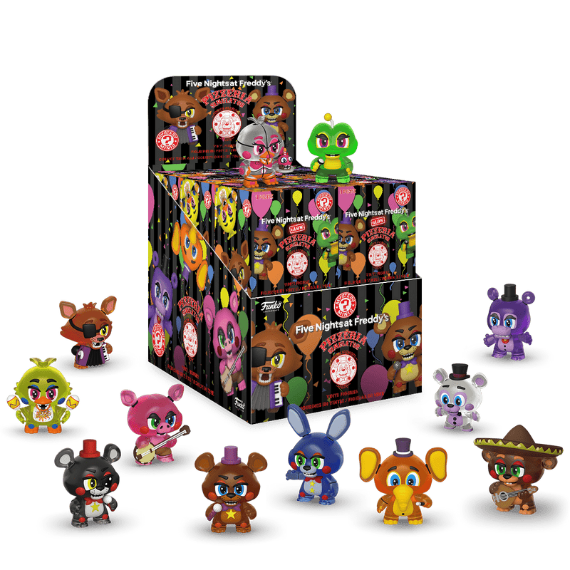 Coming Soon! Five Nights at Freddy's Pizza Simulator Glow Mystery Minis!