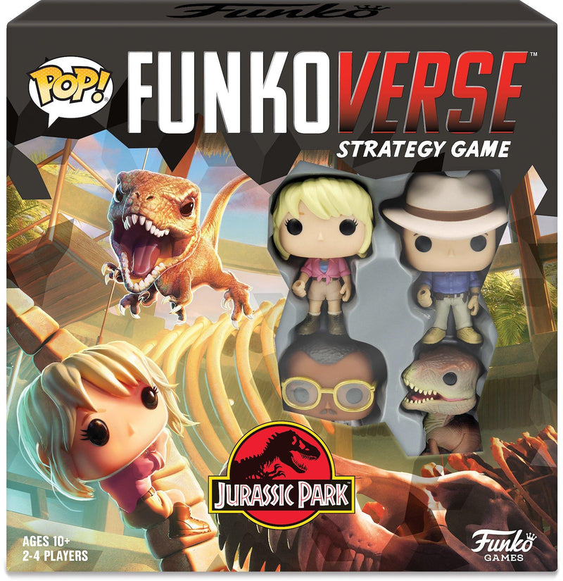 Unboxing the Jurassic Park Funkoverse Strategy Games!