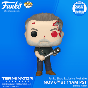 Funko Shop Exclusive Item: Pop! Movies: Terminator Dark Fate - T-800 (Battle)!