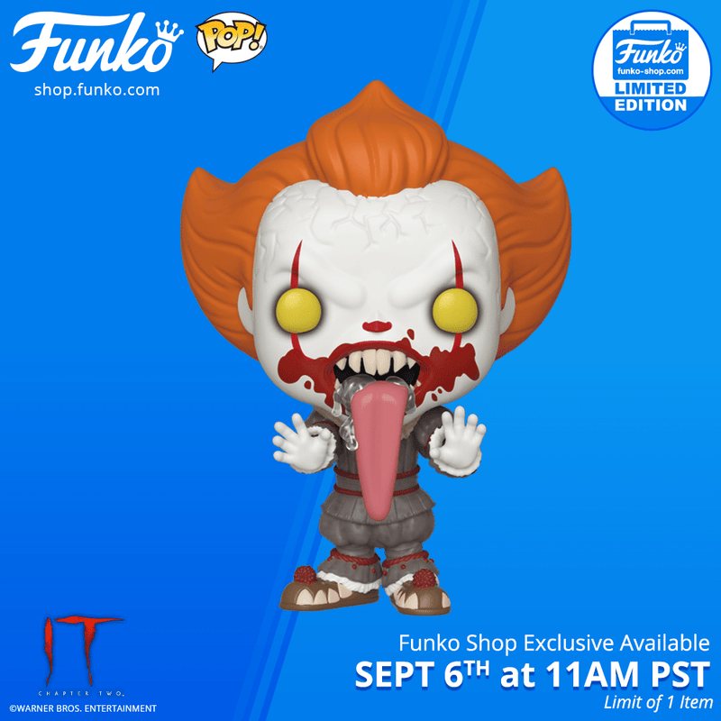 Funko Shop Exclusive Item: Pop! Movies: It: Chapter Two-Blood Splatter Pennywise Funhouse
