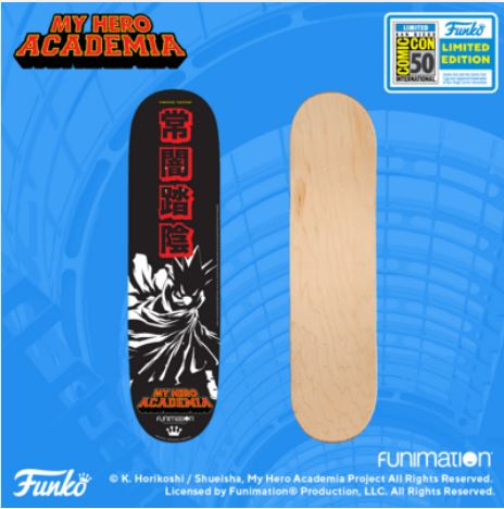 2019 SDCC Exclusive Reveals: My Hero Academia Skateboard Deck!
