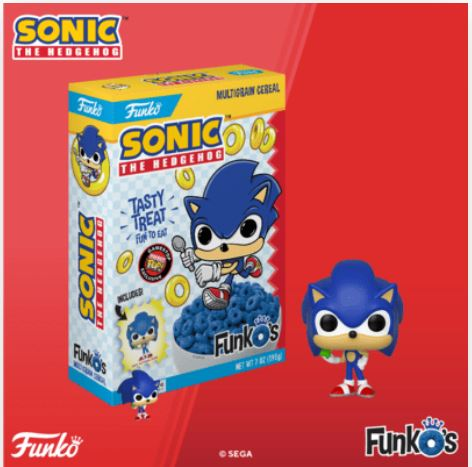 Coming Soon: GameStop Exclusive Sonic the Hedgehog Pop! Cereal!