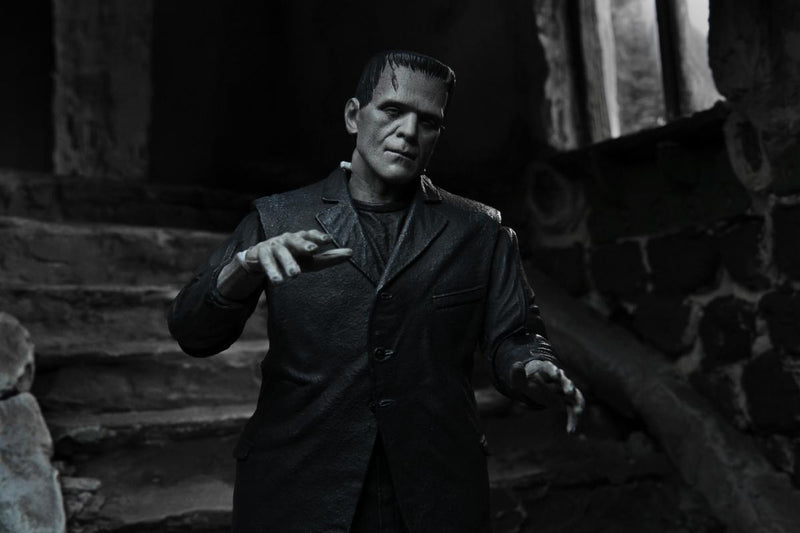 "NECA Universal Monsters - 7"" Scale Action Figure - Ultimate Frankenstein's Monster (Black & White) - ShopPopONLINE"