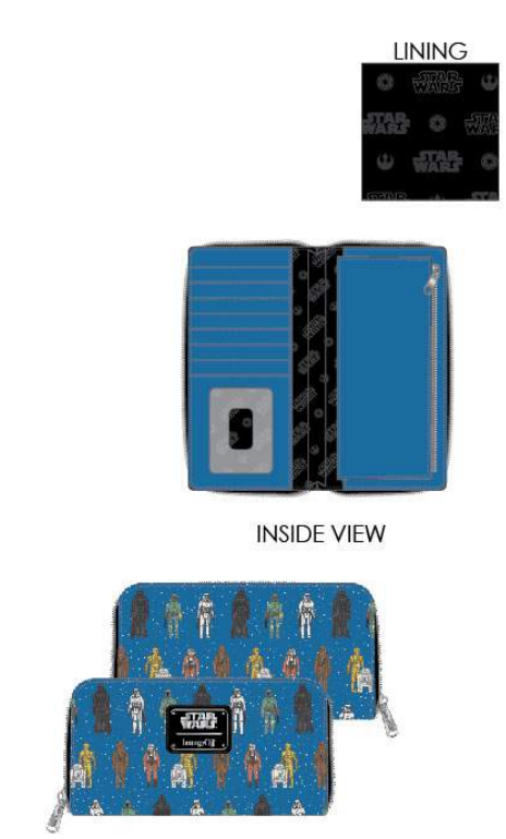 Loungefly Star Wars Action Figures Ziparound Wallet - ShopPopONLINE