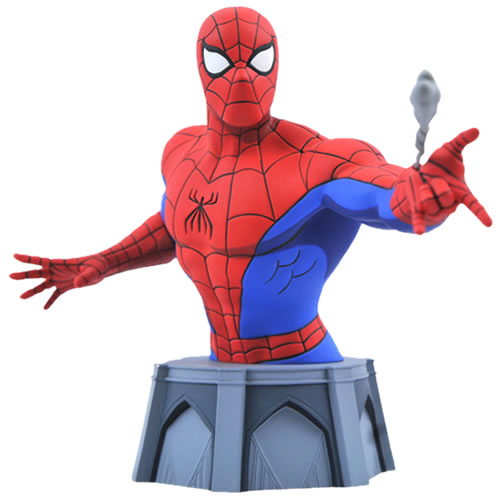 Diamond Select Marvel Mini Busts - 1/7 Scale Spider-Man (Animated) - ShopPopONLINE