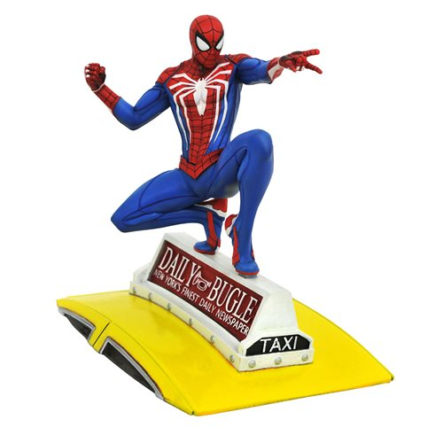 Diamond Select Marvel Gallery PS4 Spider-Man on Taxi Statue - ShopPopONLINE