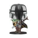 "Funko Pop! Star Wars: The Mandalorian - 10"" Chrome Mandalorian - ShopPopONLINE"