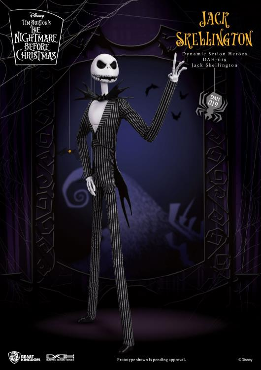 Beast Kingdom - Nightmare Before Christmas DAH-019 Dynamic 8-CtionHeroes Jack Skellington Action Figure - ShopPopONLINE
