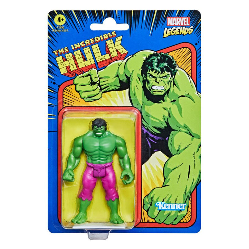 Hasbro Marvel Legends Retro 375 Collection The Incredible Hulk 3 3/4-Inch Action Figure - ShopPopONLINE