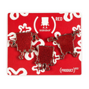 Kidrobot Nickelodeon Spongebob Squarepants (RED) Enamel Pin 3pk - ShopPopONLINE