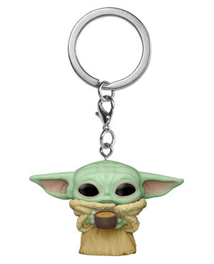 Funko Pop! Keychain: Star Wars - The Mandalorian- Child w/Cup - ShopPopONLINE