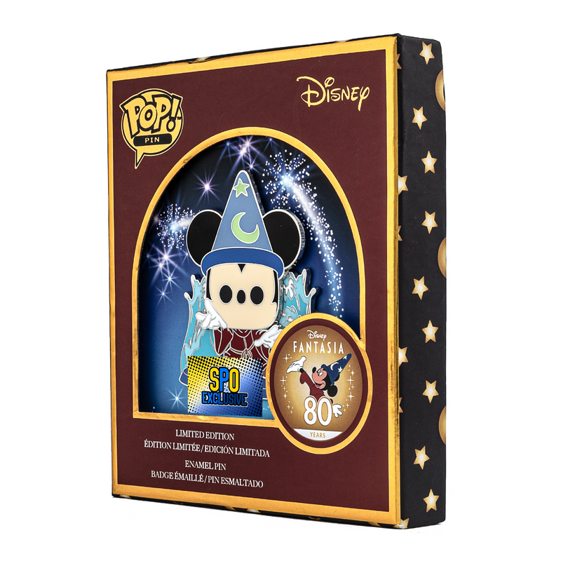 Pop! Pin Disney: Fantasia 80th - Sorcerer Mickey Glow in the Dark SPO Exclusive Limited Edition 600 pcs - ShopPopONLINE