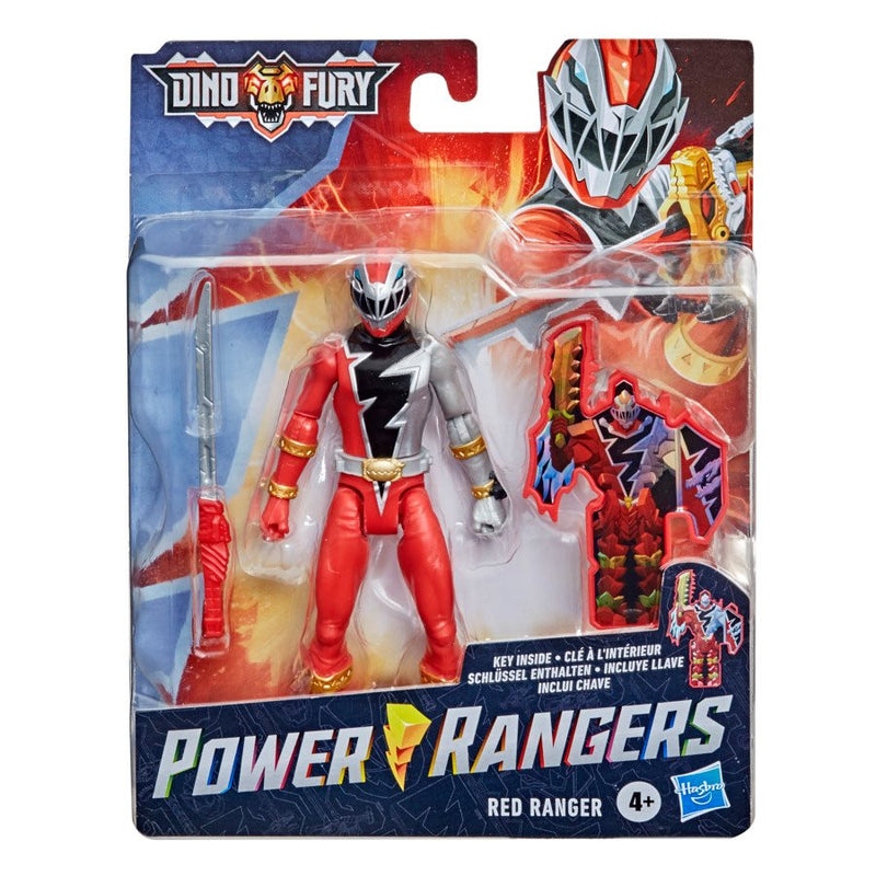 Hasbro Power Rangers Dino Fury Red Ranger 6-Inch Action Figure - ShopPopONLINE