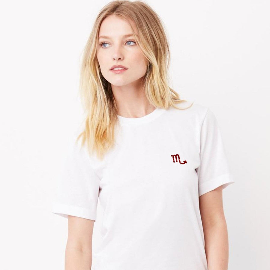Scorpio Sign Embroidered Tee