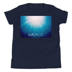 "Kid's T shirt printed with a unique and vivid ""Grace"" design. Beautiful underwater photography."
