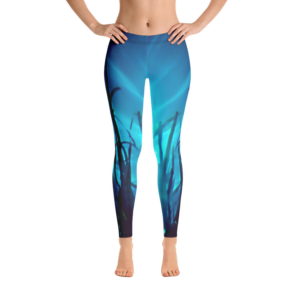 Women's leggings. Beautiful water sunlight and grass pattern. Underwater Photography. Live Your Light