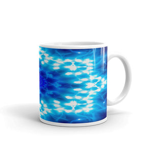 Ceramic coffee mug printed with our water and light Angel Choir vivid design.