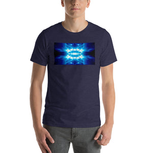 "Our vivid ""Time Machine"" design on a classic, mens navy t-shirt."
