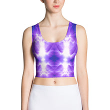 Load image into Gallery viewer, Tribe sports bra is a popular and comfortable purple design. vivid and bright