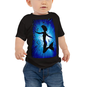 "Baby T shirt printed with a unique and vivid ""Mermaid"" design. Beautiful underwater photography."