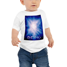 "Load image into Gallery viewer, Baby T shirt printed with a unique and vivid ""Being"" design. Beautiful underwater photography."