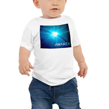 "Load image into Gallery viewer, Baby T shirt printed with a unique and vivid ""Awaken"" design. Beautiful underwater photography"