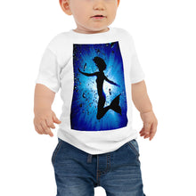 "Load image into Gallery viewer, Baby T shirt printed with a unique and vivid ""Mermaid"" design. Beautiful underwater photography."