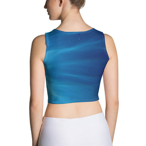 'Sea Light' a slim fitting crop top with a unique underwater design