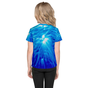 Living Light Designs presents 'Feather Light' Design on a unique all over printed Kids T Shirt
