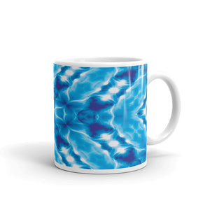 Ceramic coffee mug printed with a distinctive and vivid design.
