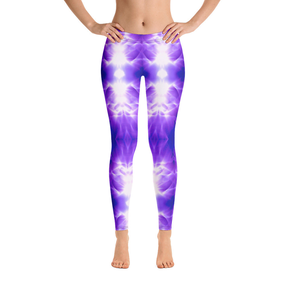 Women's Leggings. vivid beautiful purple and white design. Water and Light Beams. underwater photography. Mermaid Spirit