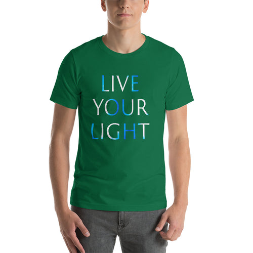 Living Light Designs Men's T shirt printed with a unique and vivid