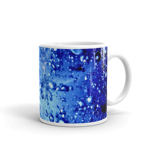 "Ceramic coffee mug printed with ""Non-Local"" underwater light Design. Vivid and uniqu"